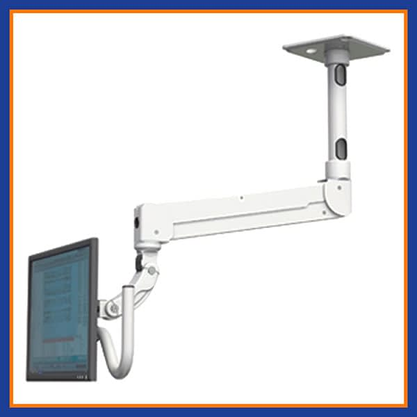 """Elite Quick Link Single Arm LCD Ceiling Mount with a 12"""" ext"""