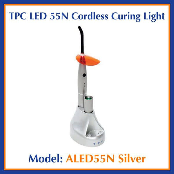 TPC Dental LED 55N Cordless Curing Light ALED55N Silver